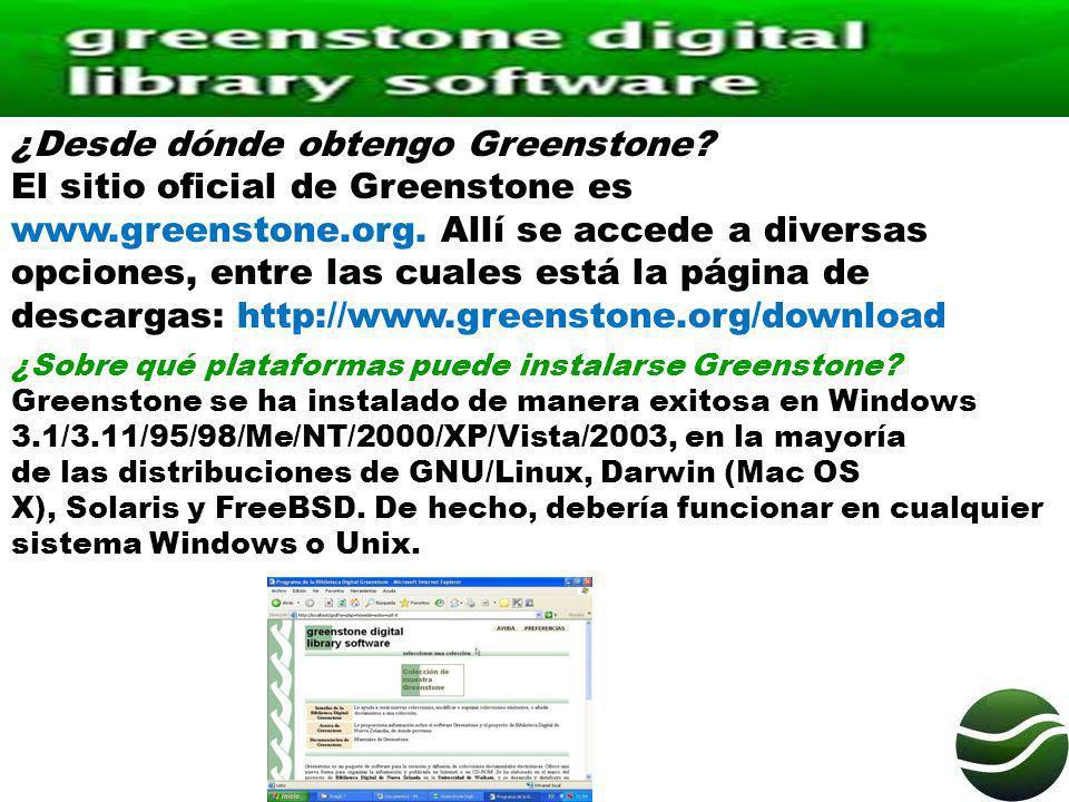¿Desde dónde obtengo Greenstone
