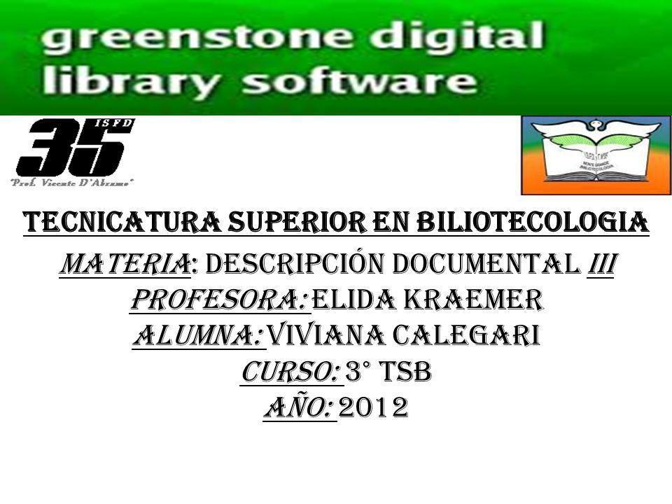 TECNICATURA SUPERIOR EN BILIOTECOLOGIA