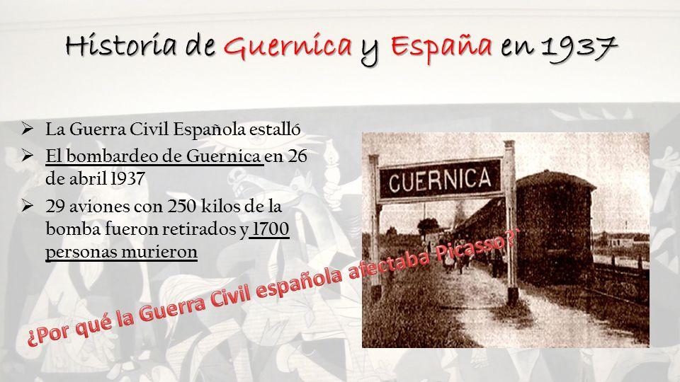 Historia de Guernica y España en 1937