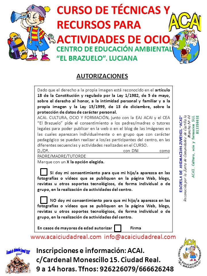 www.acaiciudadreal.com info@acaiciudadreal.com