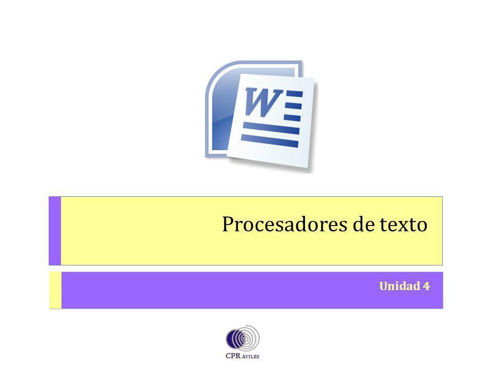 Procesadores de texto Unidad 4