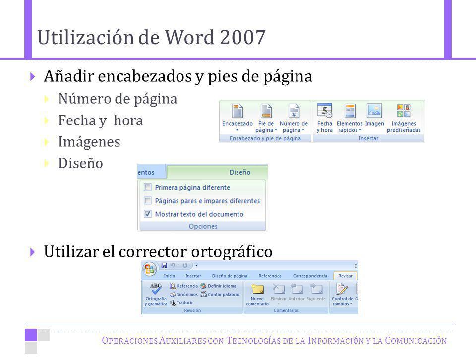 Utilización de Word 2007 Añadir encabezados y pies de página