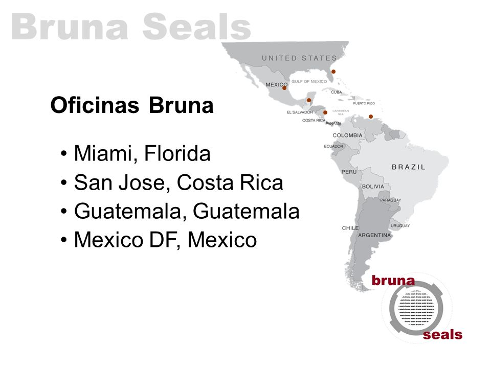 Bruna Seals Oficinas Bruna • Miami, Florida • San Jose, Costa Rica