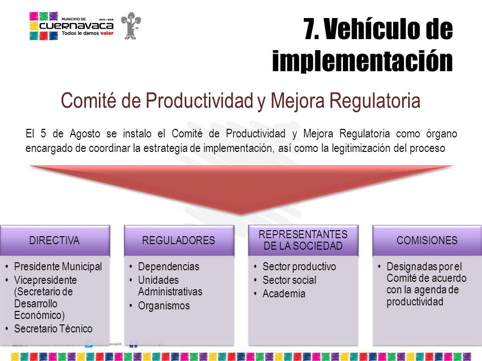 7. Vehículo de implementación