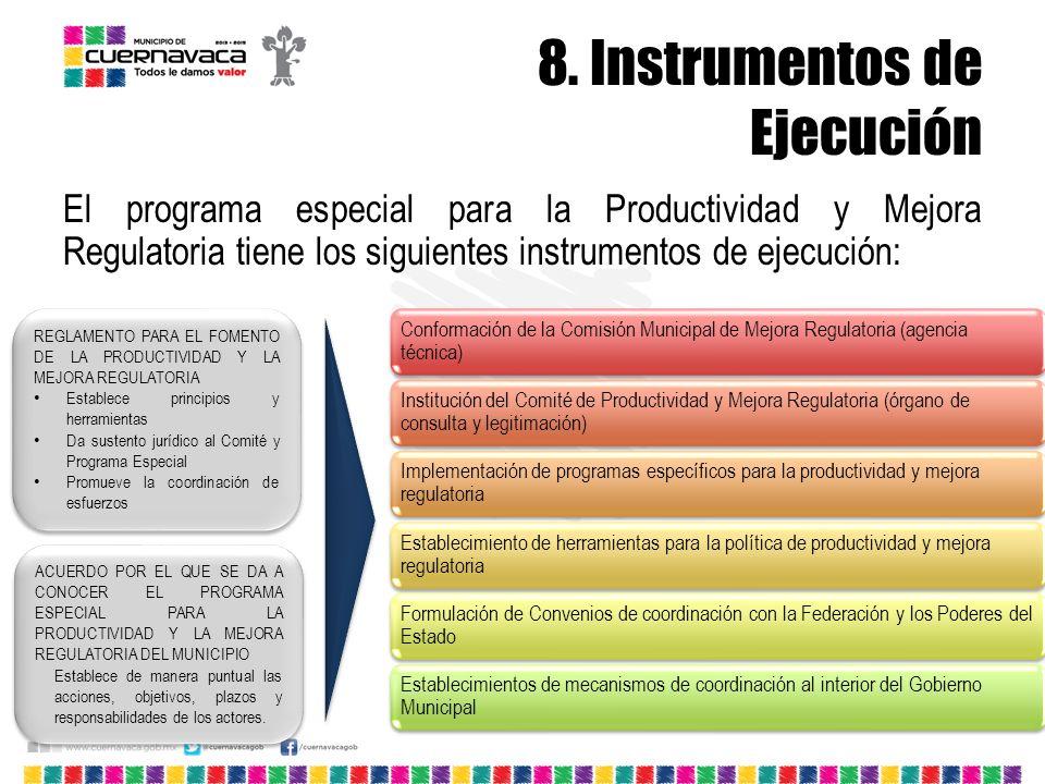 8. Instrumentos de Ejecución