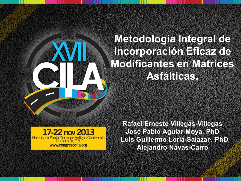 Metodología Integral de Incorporación Eficaz de Modificantes en Matrices Asfálticas.