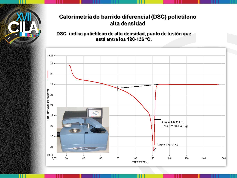 Calorimetría de barrido diferencial (DSC) polietileno alta densidad