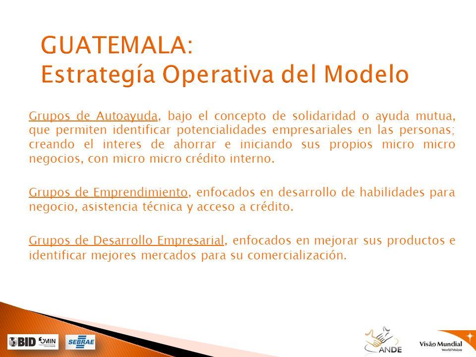 GUATEMALA: Estrategía Operativa del Modelo