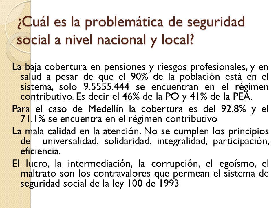 ¿Cuál es la problemática de seguridad social a nivel nacional y local