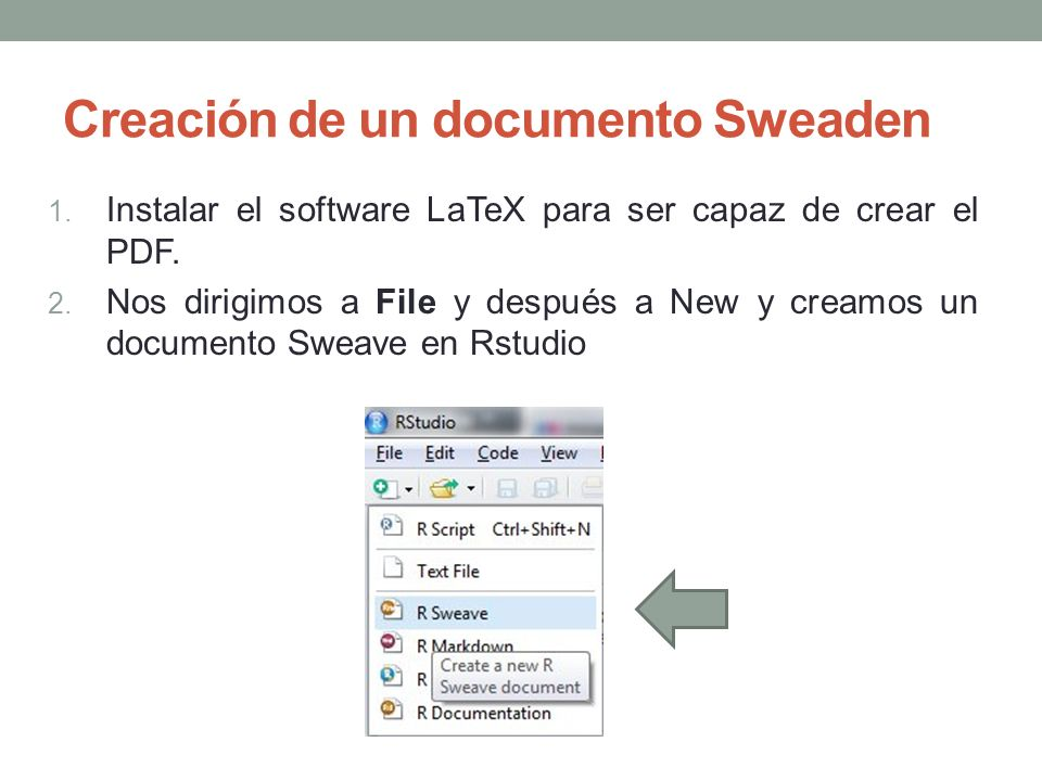 Creación de un documento Sweaden