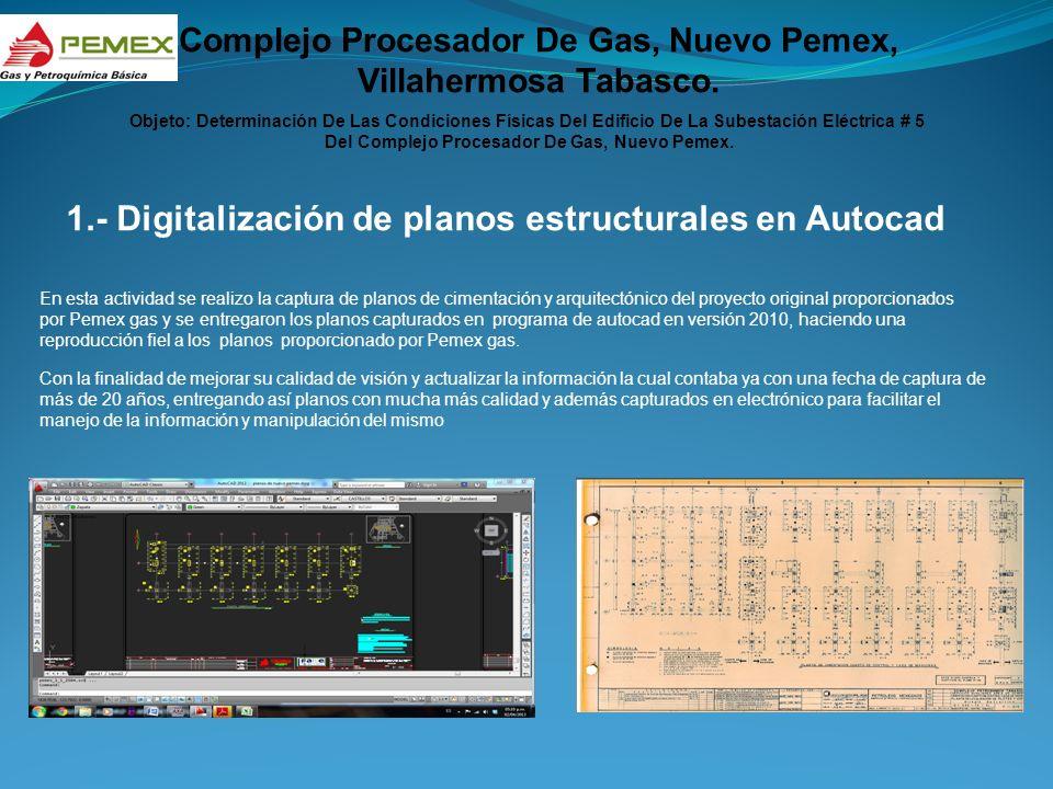 1.- Digitalización de planos estructurales en Autocad