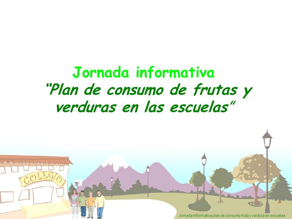 Jornada informativa Plan de consumo de frutas y verduras en las escuelas