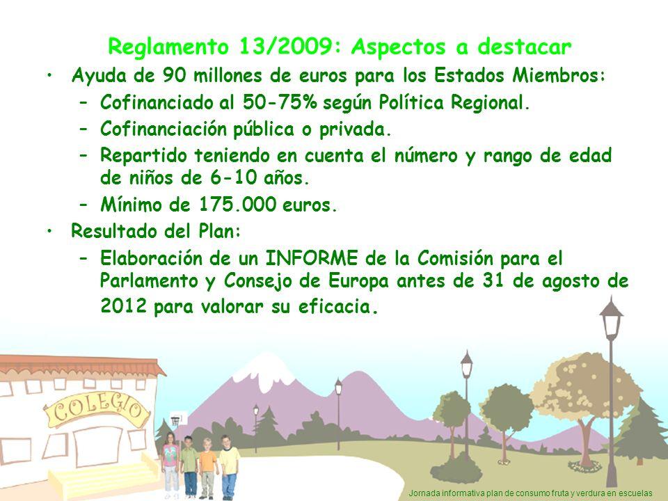 Reglamento 13/2009: Aspectos a destacar