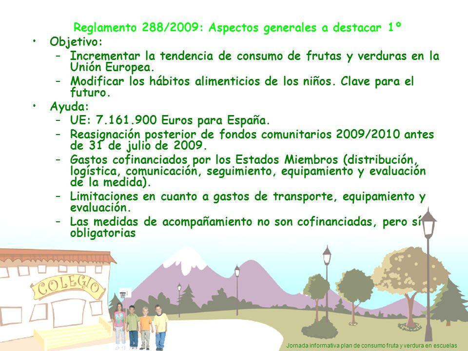 Reglamento 288/2009: Aspectos generales a destacar 1º