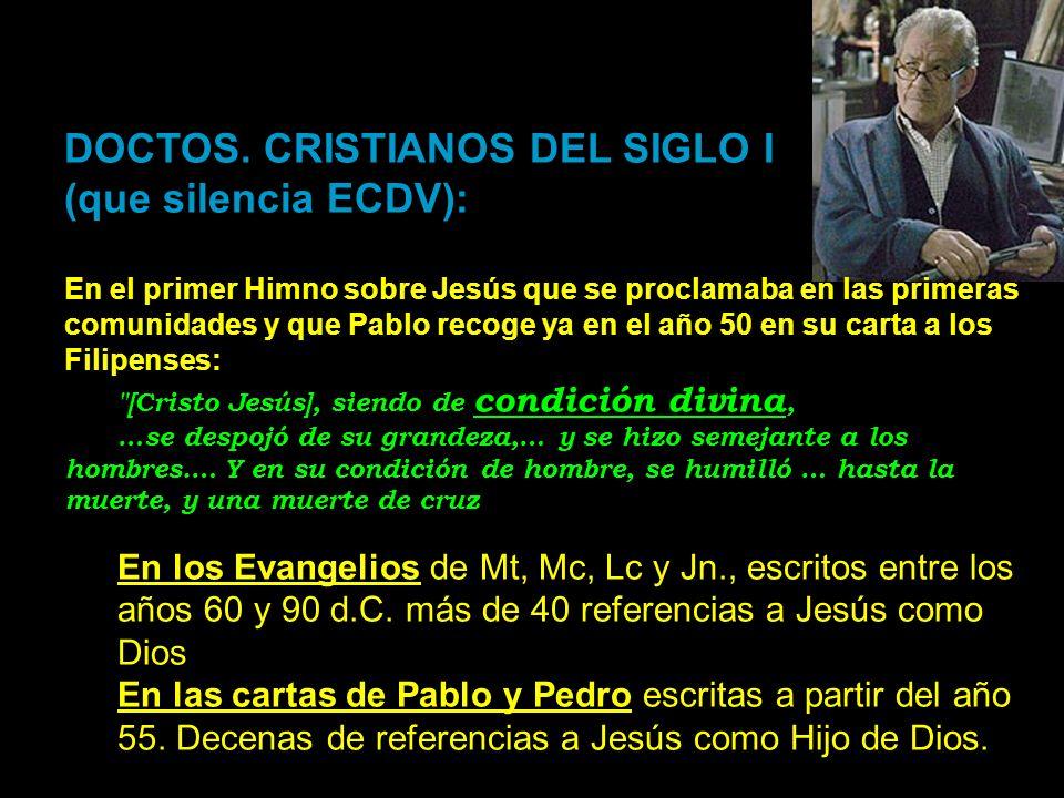 DOCTOS. CRISTIANOS DEL SIGLO I (que silencia ECDV):