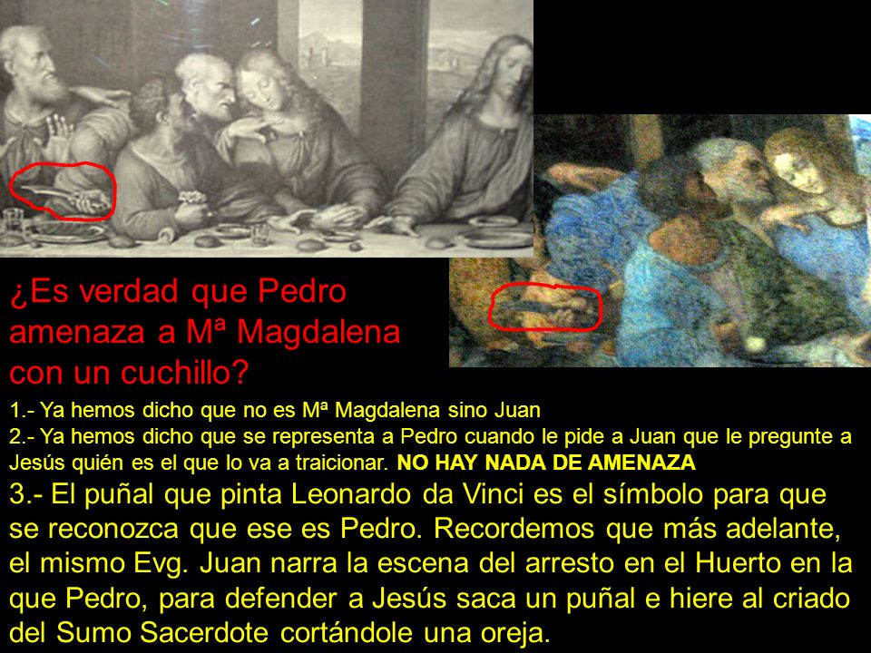 ¿Es verdad que Pedro amenaza a Mª Magdalena con un cuchillo