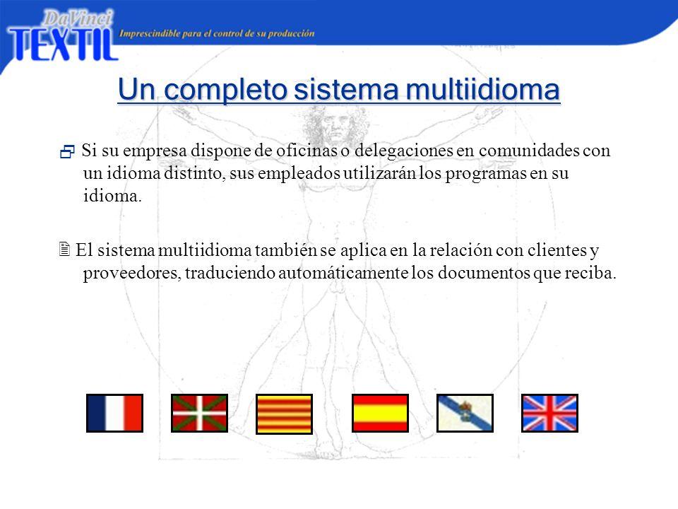 Un completo sistema multiidioma