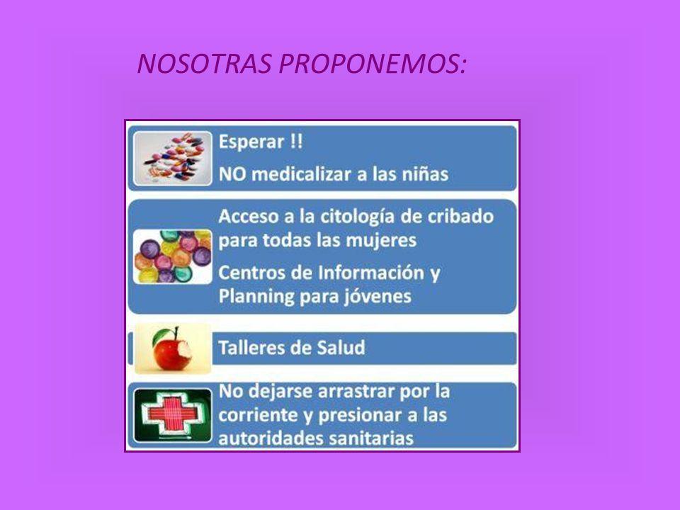 NOSOTRAS PROPONEMOS: