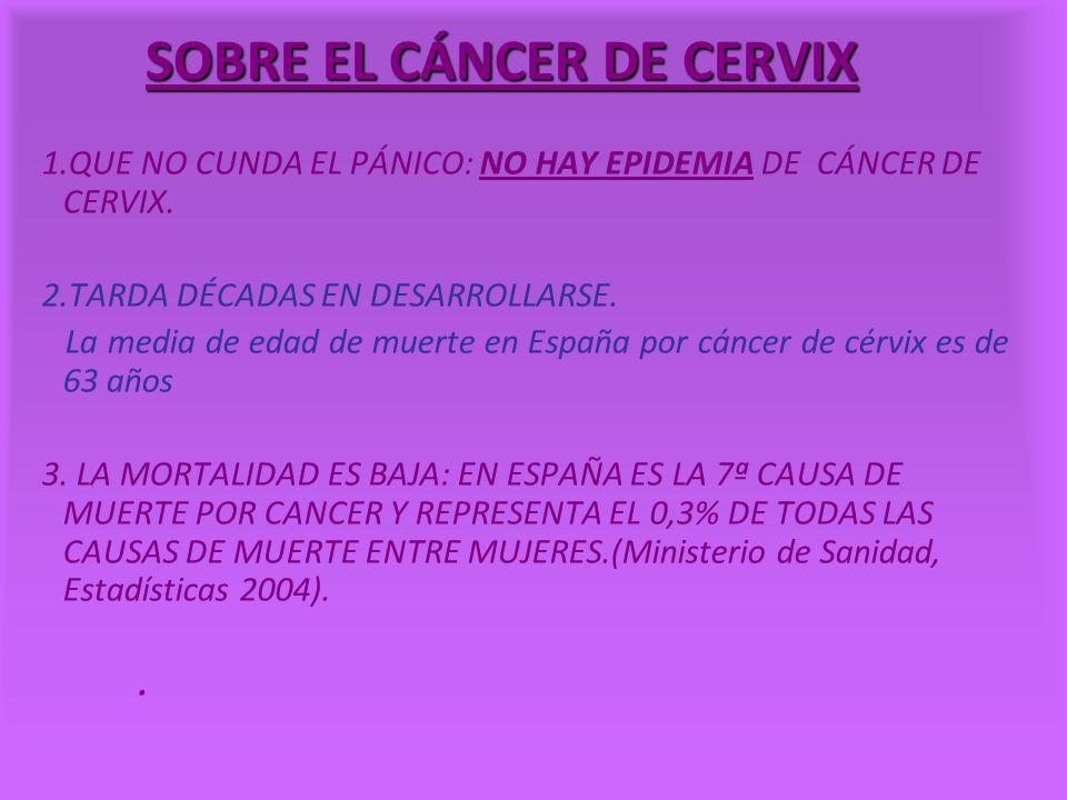 SOBRE EL CÁNCER DE CERVIX