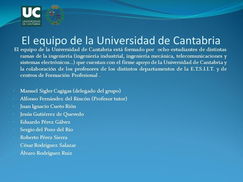 El equipo de la Universidad de Cantabria