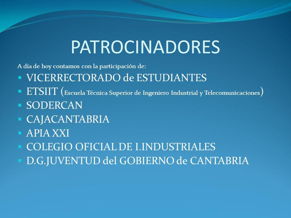 PATROCINADORES VICERRECTORADO de ESTUDIANTES