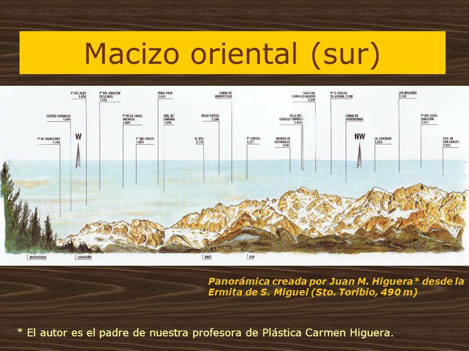 Macizo oriental (sur) Panorámica creada por Juan M. Higuera* desde la Ermita de S. Miguel (Sto. Toribio, 490 m)