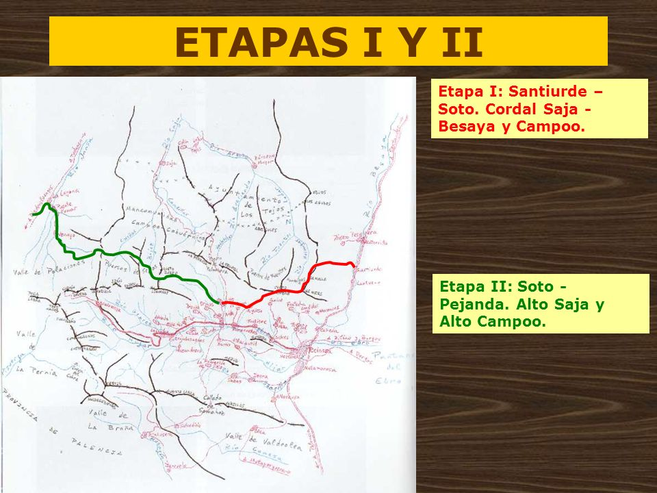 ETAPAS I Y II Etapa I: Santiurde – Soto. Cordal Saja - Besaya y Campoo.
