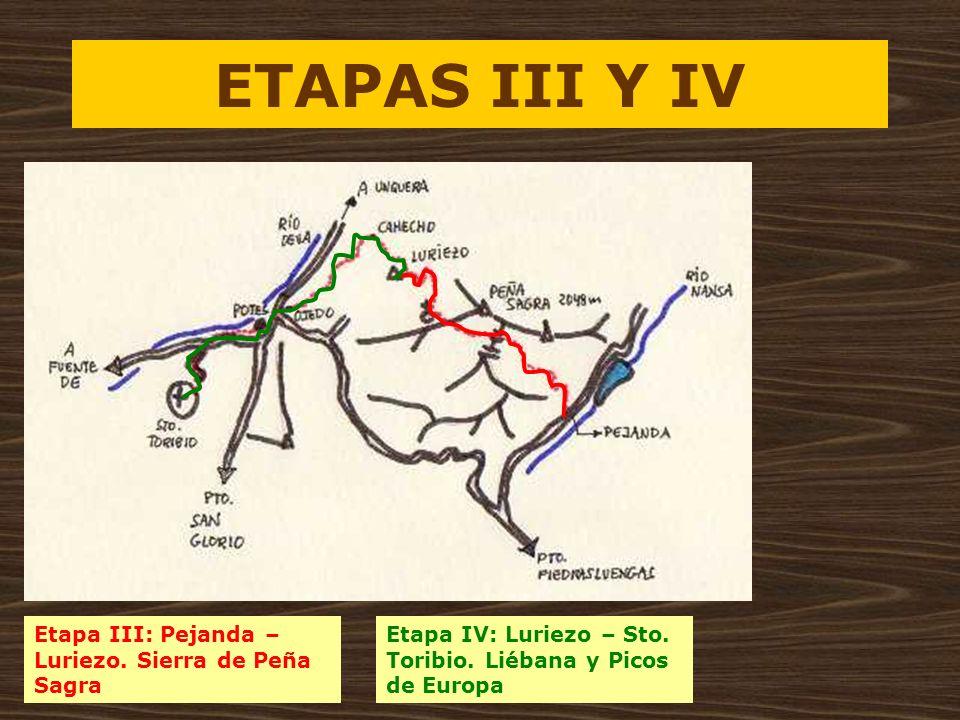 ETAPAS III Y IV Etapa III: Pejanda –Luriezo. Sierra de Peña Sagra