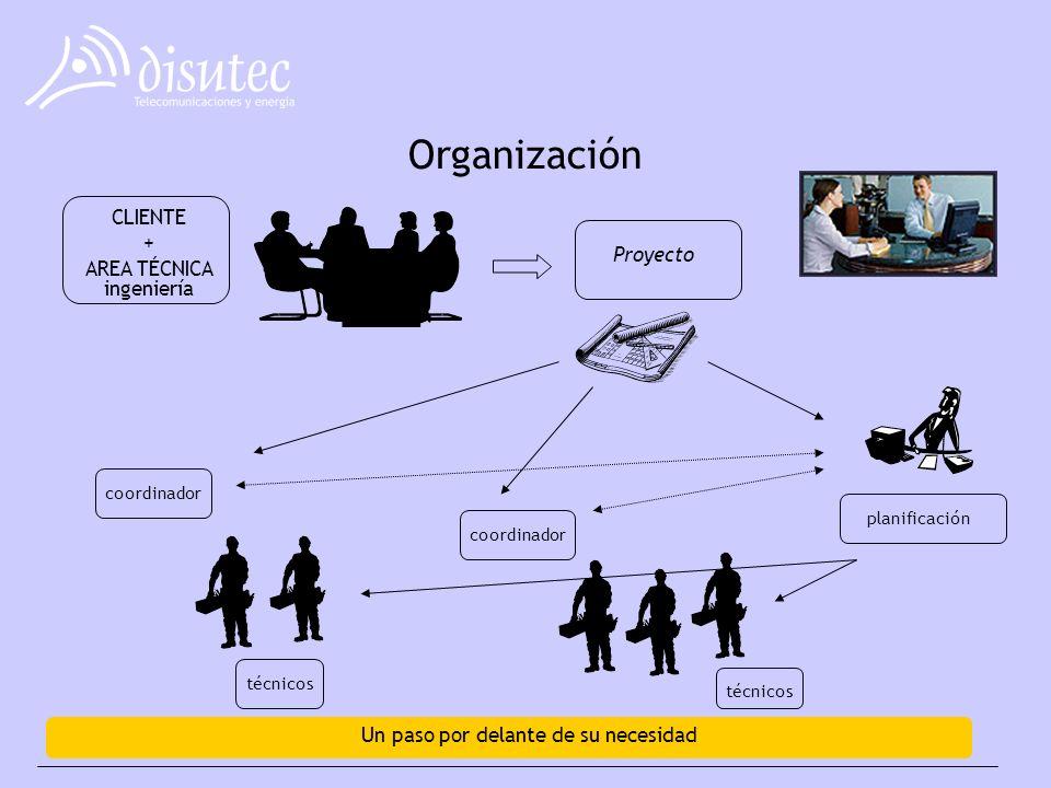 Organización CLIENTE + AREA TÉCNICA ingeniería Proyecto