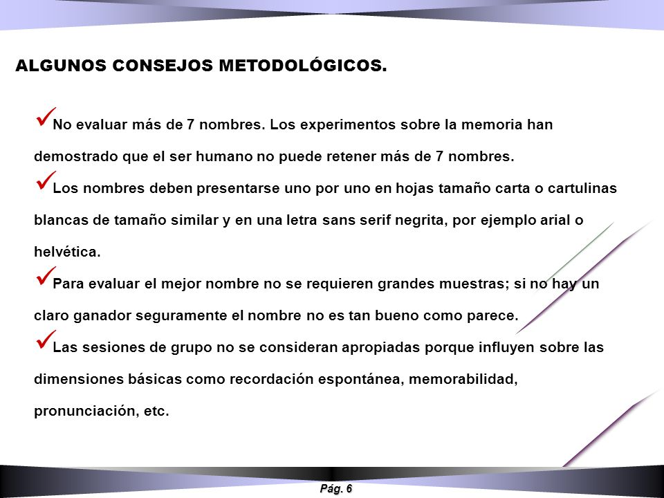 ALGUNOS CONSEJOS METODOLÓGICOS.