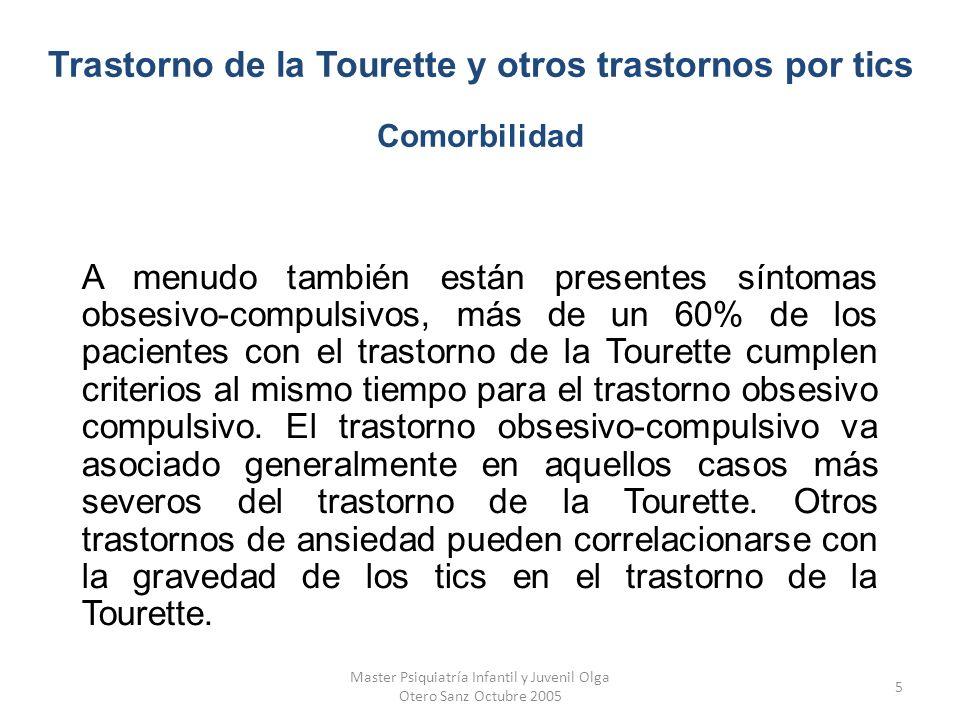 Trastorno de la Tourette y otros trastornos por tics Comorbilidad