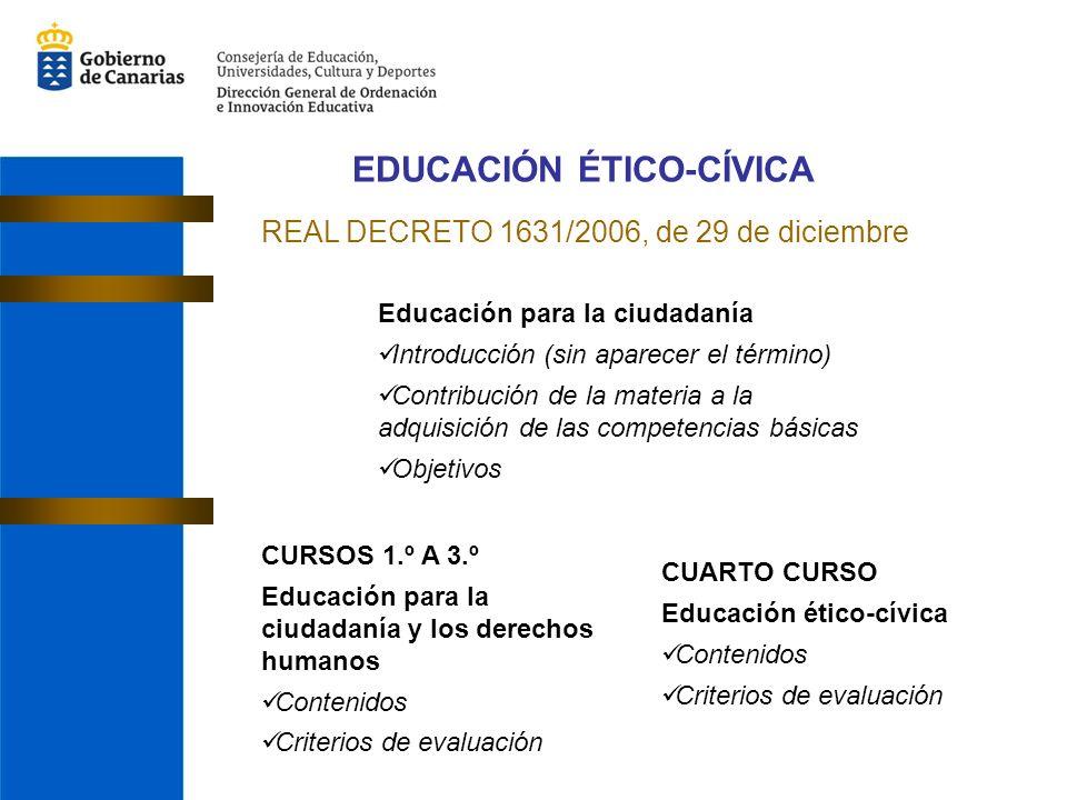 EDUCACIÓN ÉTICO-CÍVICA