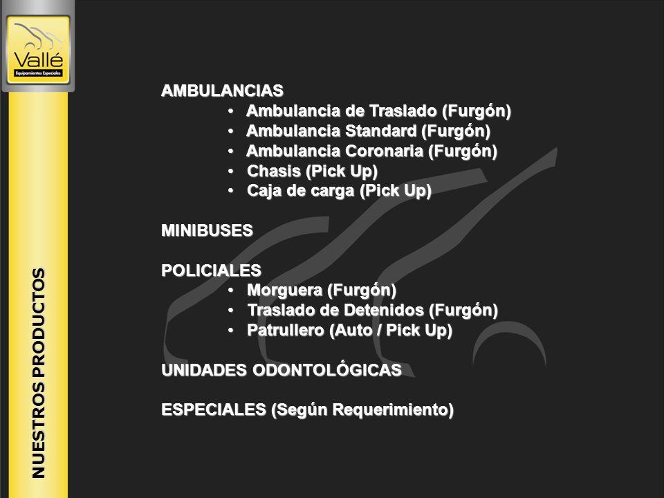 Ambulancia de Traslado (Furgón) Ambulancia Standard (Furgón)