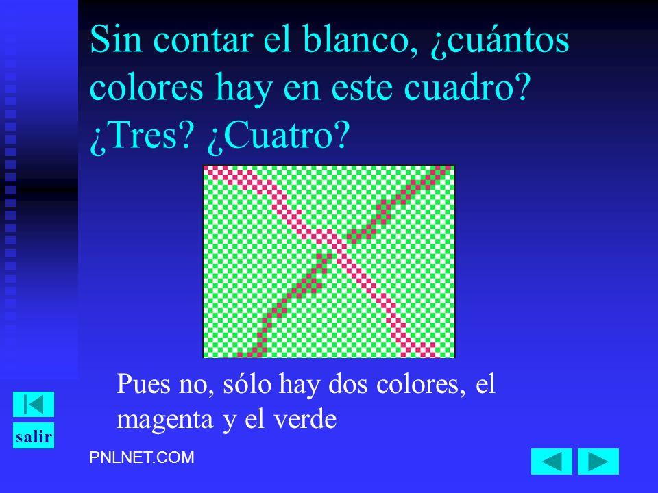 Sin contar el blanco, ¿cuántos colores hay en este cuadro. ¿Tres