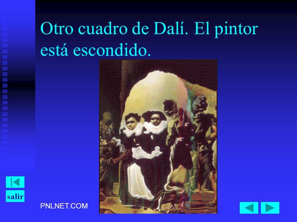 Otro cuadro de Dalí. El pintor está escondido.