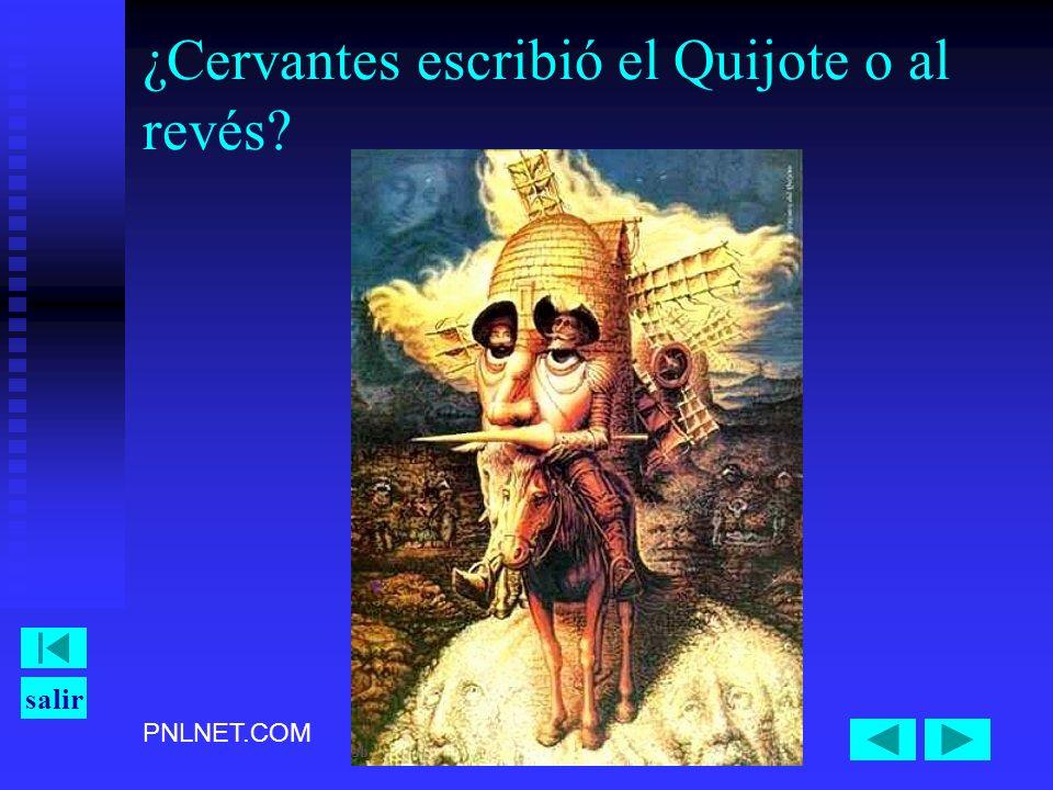 ¿Cervantes escribió el Quijote o al revés