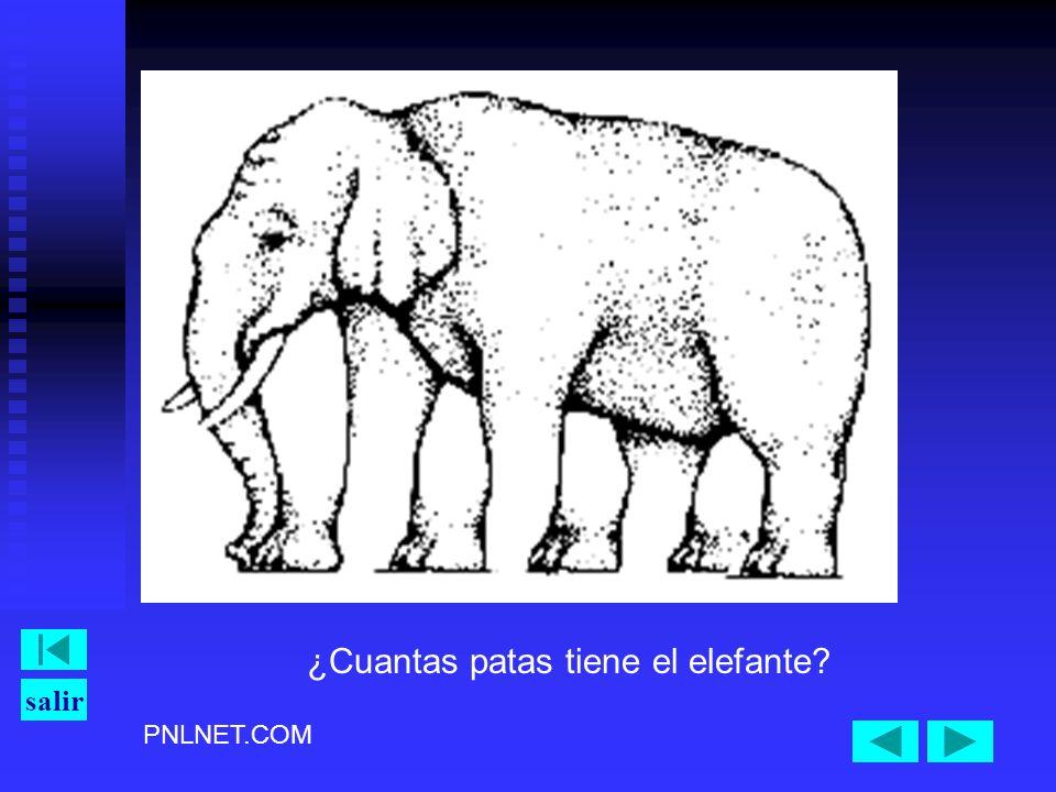 ¿Cuantas patas tiene el elefante