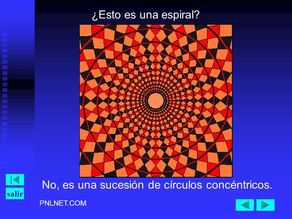 ¿Esto es una espiral No, es una sucesión de círculos concéntricos.