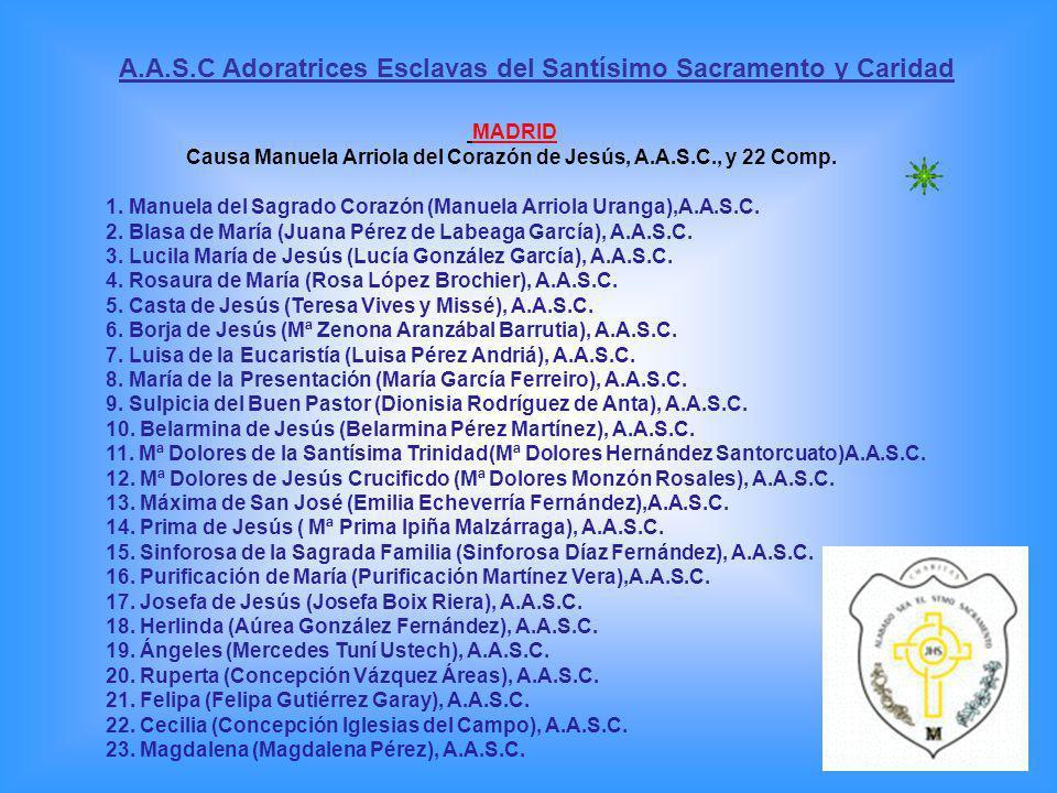 A.A.S.C Adoratrices Esclavas del Santísimo Sacramento y Caridad