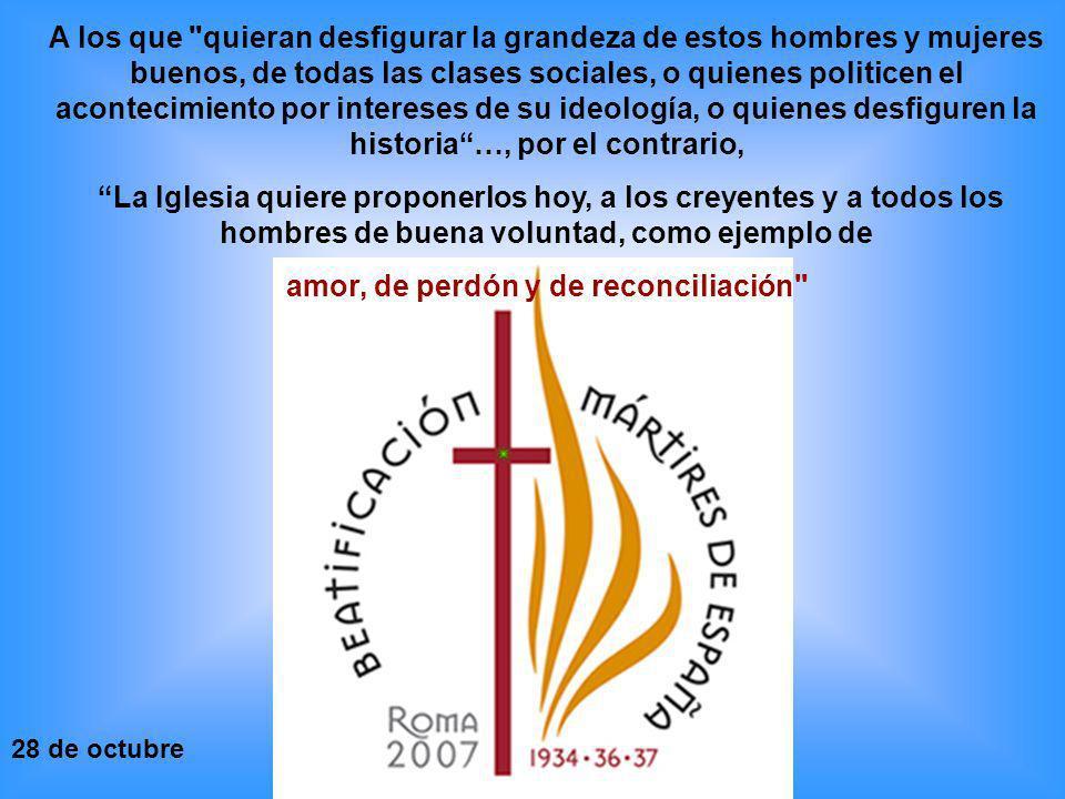 amor, de perdón y de reconciliación
