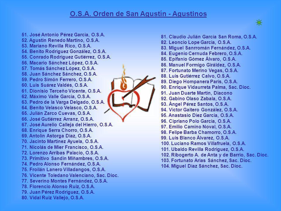 O.S.A. Orden de San Agustín - Agustinos