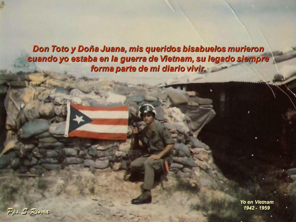 Don Toto y Doña Juana, mis queridos bisabuelos murieron
