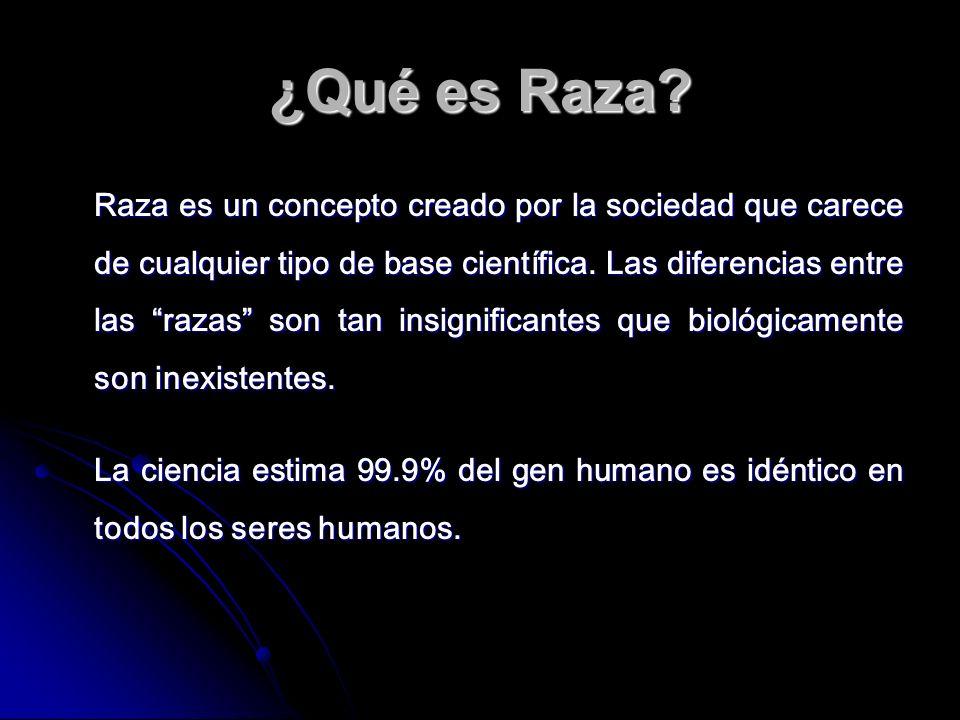 ¿Qué es Raza
