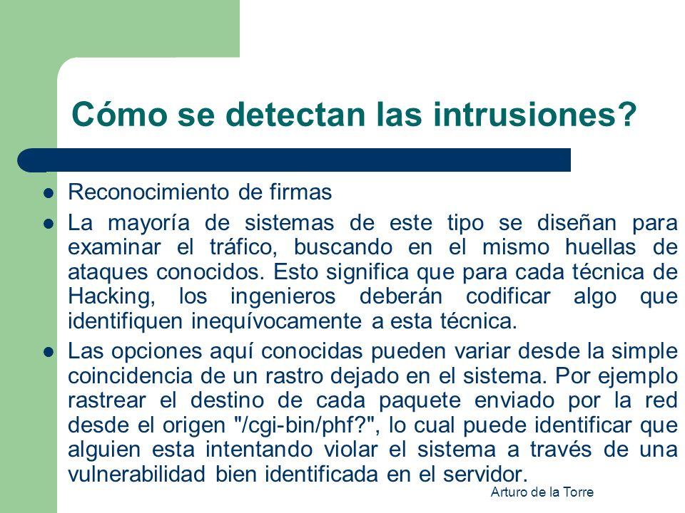 Cómo se detectan las intrusiones