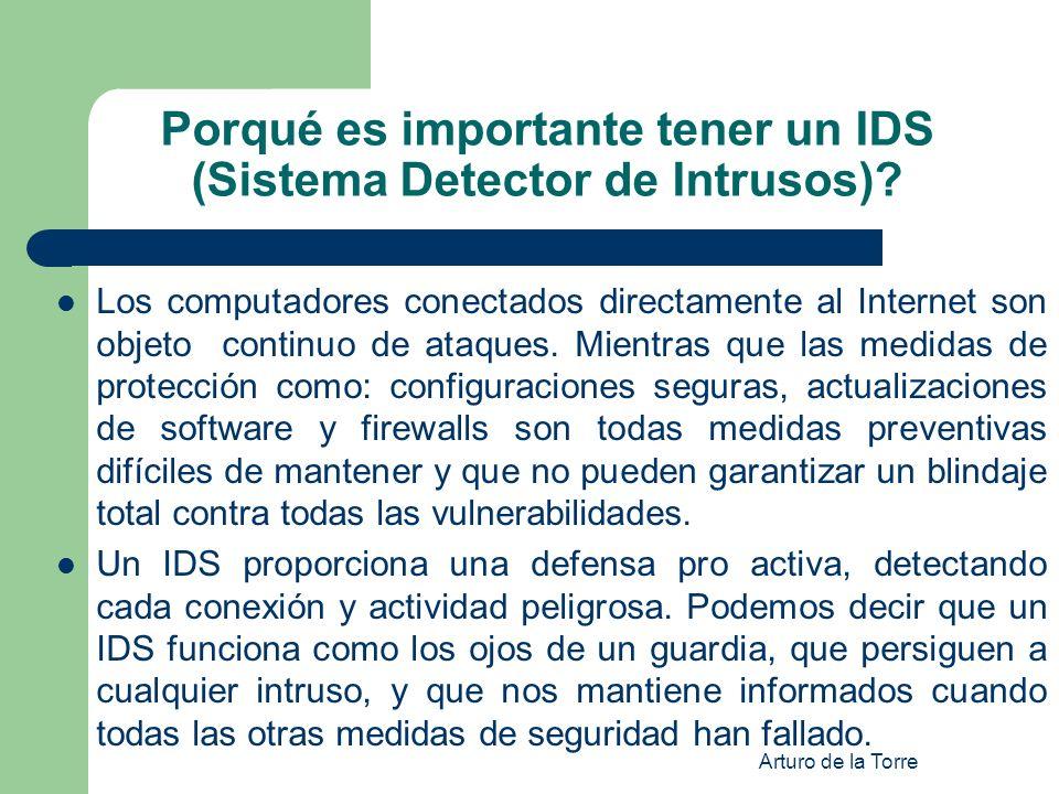 Porqué es importante tener un IDS (Sistema Detector de Intrusos)