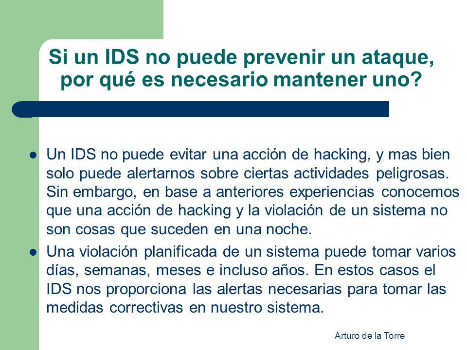 Si un IDS no puede prevenir un ataque, por qué es necesario mantener uno