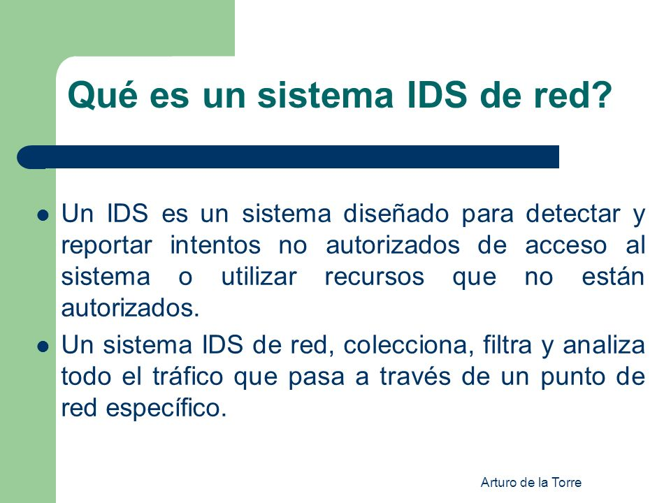 Qué es un sistema IDS de red