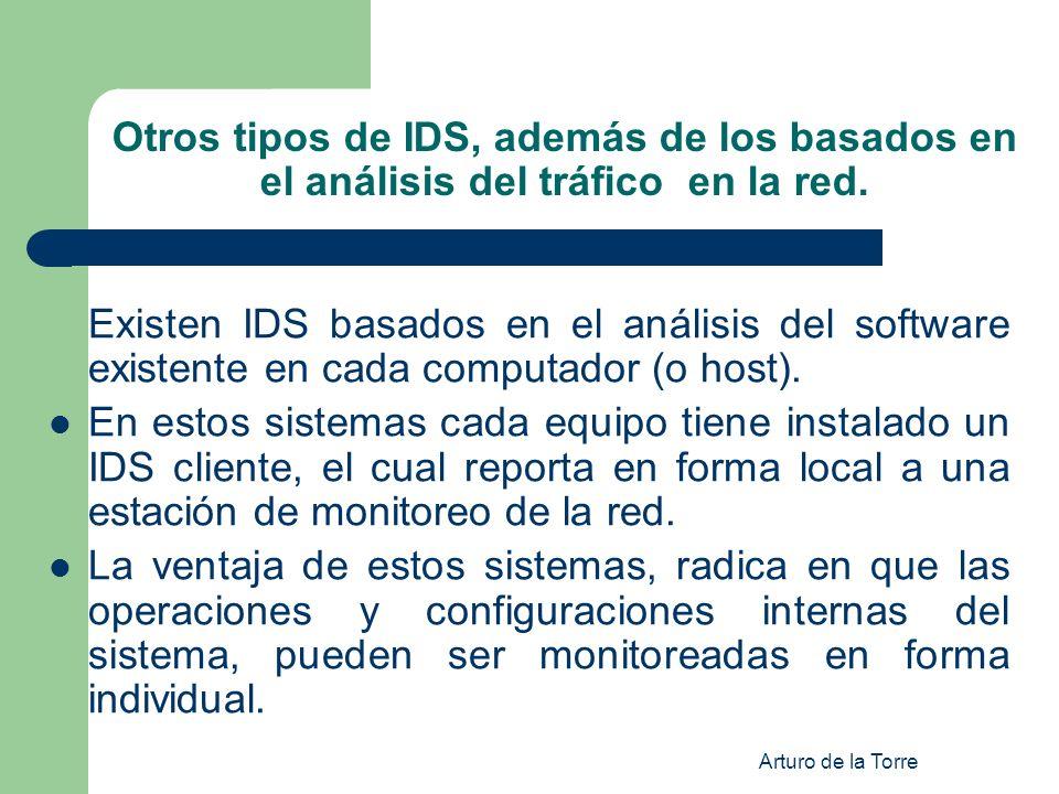 Otros tipos de IDS, además de los basados en el análisis del tráfico en la red.