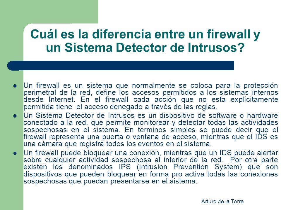 Cuál es la diferencia entre un firewall y un Sistema Detector de Intrusos