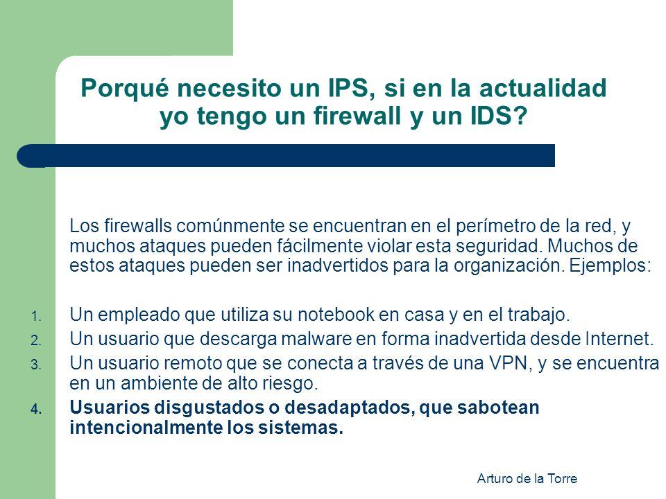 Porqué necesito un IPS, si en la actualidad yo tengo un firewall y un IDS